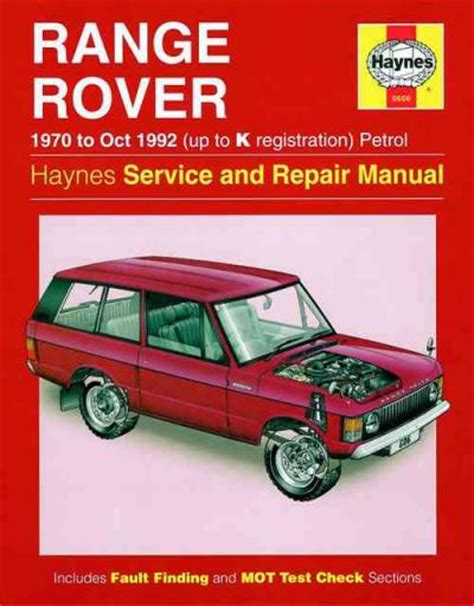 car repair manuals online pdf 1992 land rover range rover user handbook range rover v8 1970 1992 haynes service repair manual sagin workshop car manuals repair books