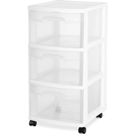 sterilite 3 drawer wide cart dimensions sterilite 3 drawer wide cart white walmart
