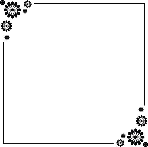 card borders simple flower border designs for a4 paper cliparts co