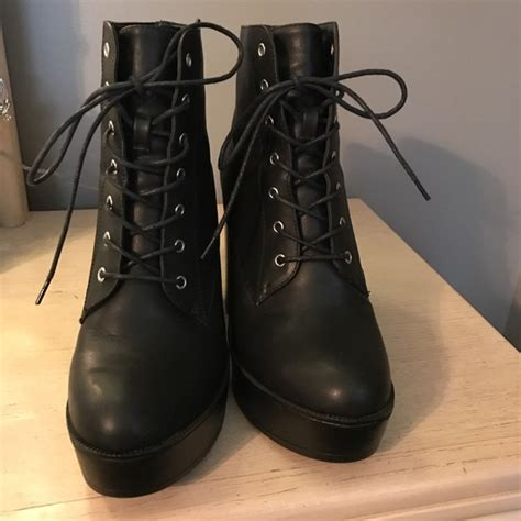 lace up moto boots 94 forever 21 shoes lace up moto boots from