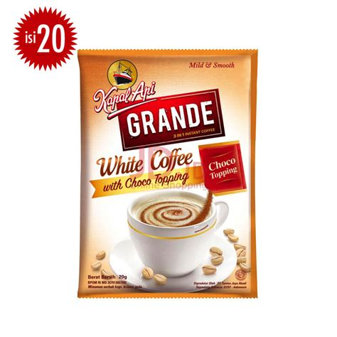 Kapal Api Coffee Bag 3pcs jual kapal api grande white coffee topping bag 20g x 20pcs