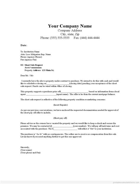 real estate offer letter template template design
