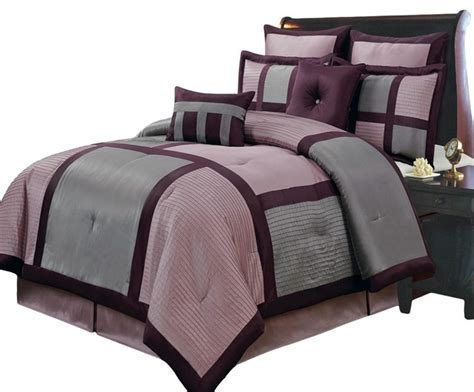 bed in a bag sale morgan purple luxury 12 piece bed in a bag contemporary