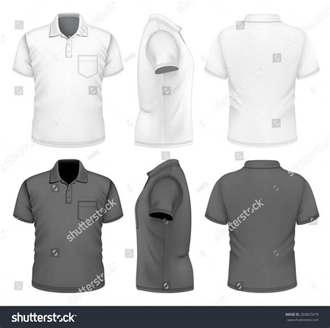 s polo shirt design template front back and side