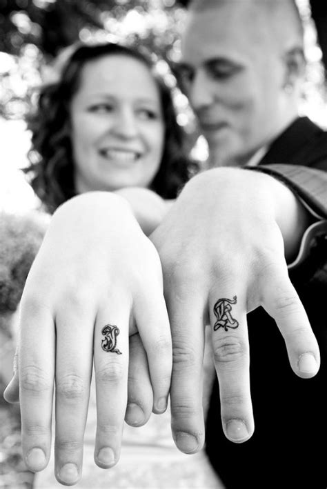 ring finger couple tattoos 40 of the best wedding ring designs