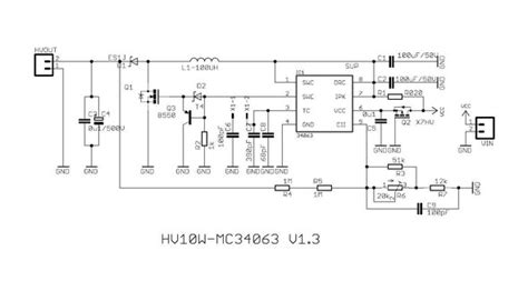 mc34063 inductor current kit build a high voltage power supply by using the mc34063 chip vfdclock 电子制作网