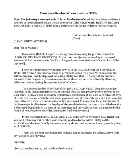 termination letter by landlord sle termination letter 7 documents in pdf word