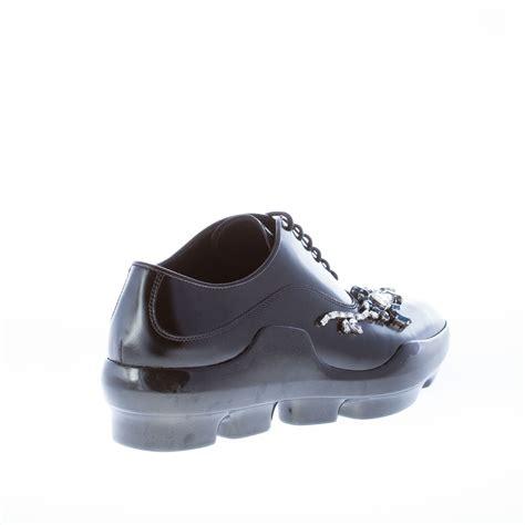prada oxford shoes womens prada shoes black polished leather sneaker style