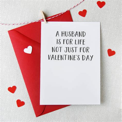 Valentine Gift Card - valentine card for husband valentinesday