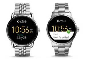 Rugged Analog Watch Fossil Q Wander And Q Marshal Smartwatches Gadgetsin