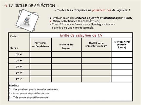 Grille Evaluation Cv by Le Tri De Curriculum Vitae Ppt T 233 L 233 Charger