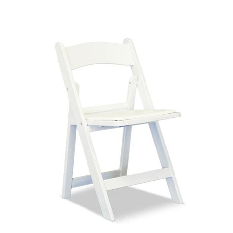 white resin folding chair exclusive events