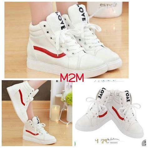 Sepatu Boot Wedges Zr12 Putih 1 jual sepatu wanita boots warna putih polet merah murah ala korea deiam shop di