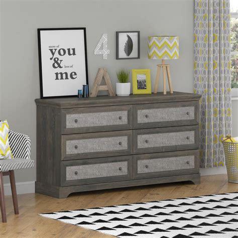 altra furniture river 6 drawer gray oak dresser