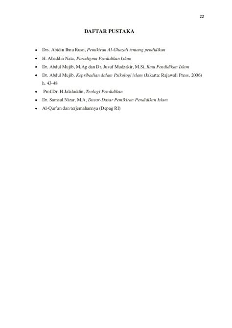 Pemikiran Al Ghazali Tentang Pendidikan Drs Abidin Ibnu Rusn makalah potensi dasar manusia dan tugas manusia kel 1