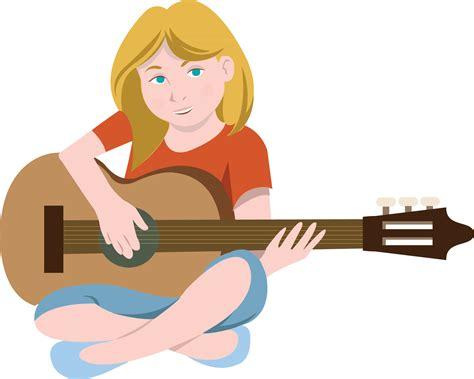 Girl Playing Guitar Clip Art | free clip art people 187 everyday people 187 girl playing guitar