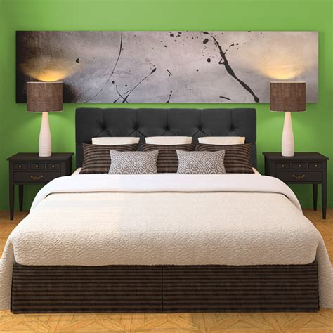 Gray Upholstered Headboard by Klein Grey Tufted Upholstered Headboard