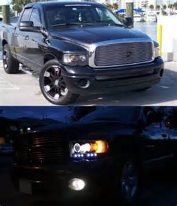 2004 dodge ram 2500 black projector headlights and led