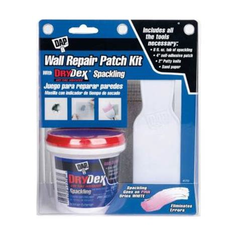 dap 8 oz drydex wall repair patch kit 12345 the home depot
