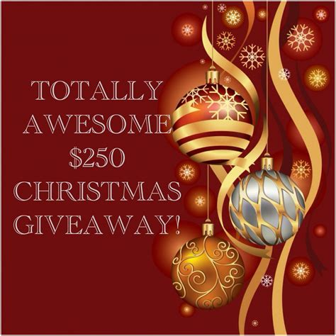 Awesome Giveaways - totally awesome 250 christmas giveaway stushigal style