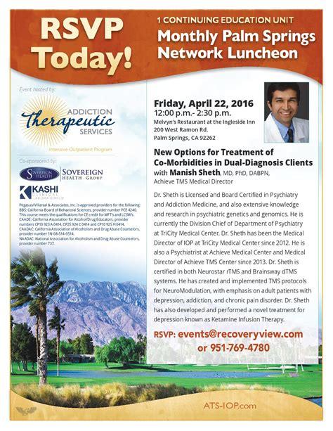 Hetamine Detox Protocol by April 2016 Rancho Mirage Network Luncheon C E Event