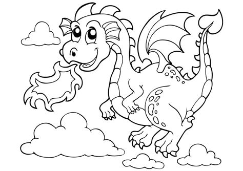 printable dragon templates flying dragon easy coloring coloring pages