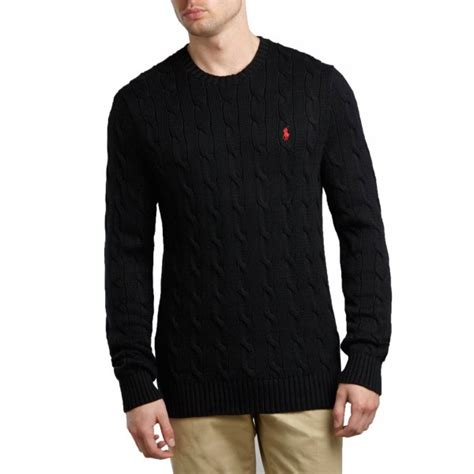 ralph cable knit jumper polo ralph jumper cable knit black