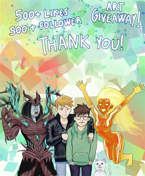 500 Followers Giveaway - 500 likes followers milestone art giveaway by sciamano240 on deviantart