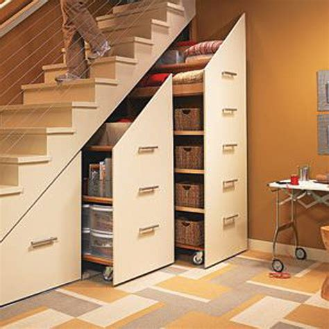 Garage Storage Stairs Pretty And Inexpensive Ways To Organize Your Home