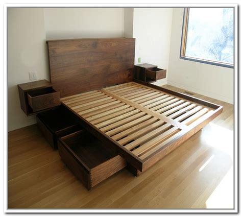 Platform Bed With Storage King Diy King Platform Bed Frames Selections Homesfeed