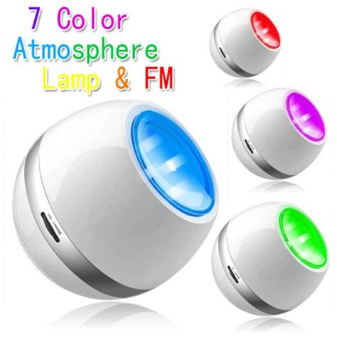 led speaker portable living colors with fm radio white