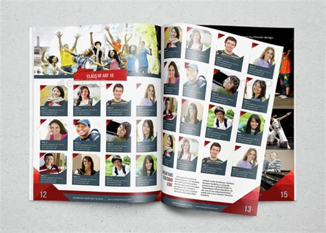 Yearbook Template Design Vol 2 By Hiro27 Graphicriver Publisher Yearbook Template