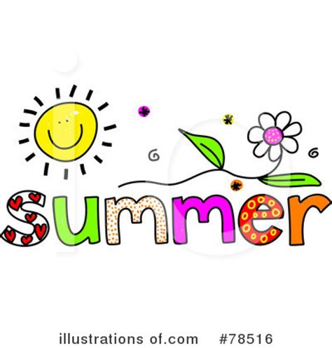 word clipart summer clipart the word pencil and in color summer