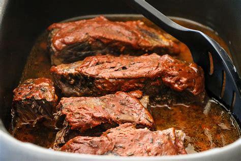 boneless pork short ribs crock pot