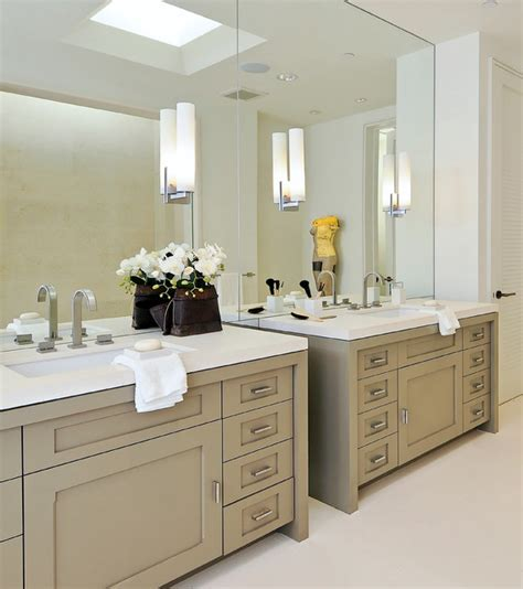 Bathroom With Two Separate Vanities by Walsh Project Bathroom San Francisco