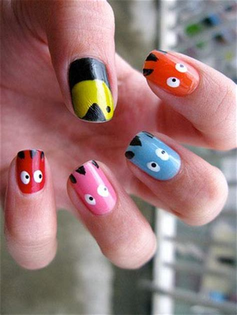 design nail art games nail art game pacman nail designs