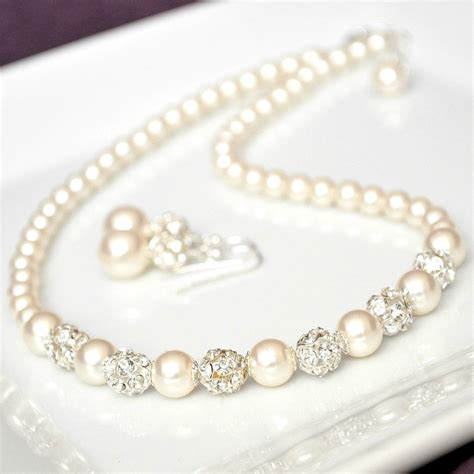Bridal Jewelry Set Swarovski Bridal Jewelry Set Rhinestone