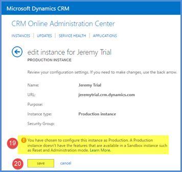 reset crm online instance reset production instances in dynamics crm online