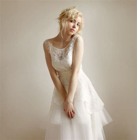 lace sheer wedding gowns illusion neckline wedding dress sheer lace onewed