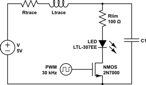 led pwm capacitor reducing led pwm noise which is the best option electrical engineering stack exchange