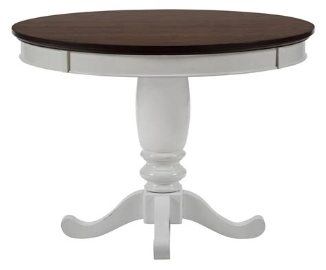 42 dining table braden birch casual white brown two tone 42 inch