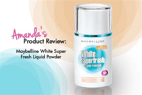 Maybelline White Liquid Powder product review maybelline white superfresh liquid powder
