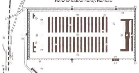 House Plan Blueprints map of dachau concentration camp and memorial site