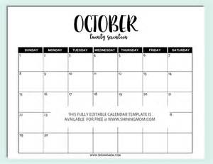 Editable Monthly Calendar Template by Free Monthly Calendar Editable Template Calendar