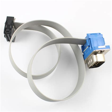 10 pin idc connector flat ribbon cable d sub db9 9pin connector to idc 10 pin flat