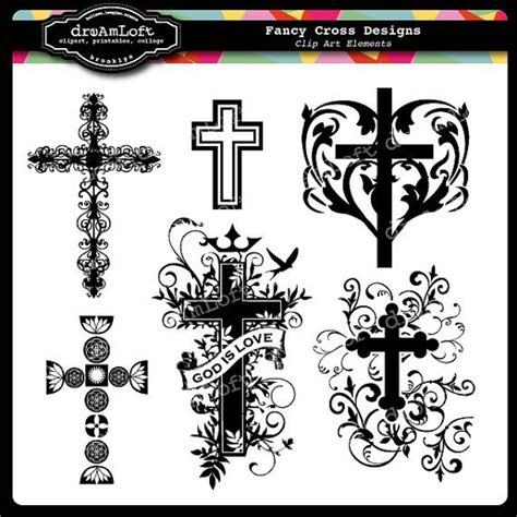 fancy cross tattoo fancy cross clip for religious cards christenings