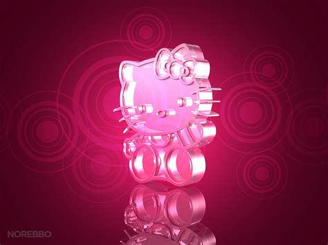 hello kitty themes black and pink metal and glass hello kitty 3d renderings norebbo