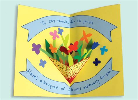 pop up card mothers day templates free s day pop up card how to make a pop up card with