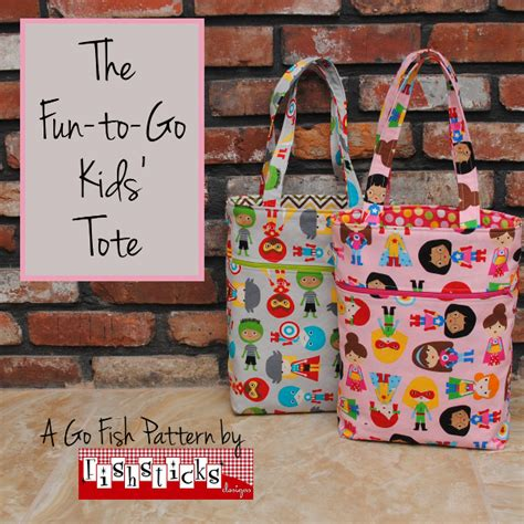 tote bag pattern for toddler the fun to go kids tote fishsticks designs