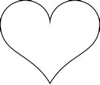 Gabarit Un Coeur Simple 224 Colorier Ou 224 D 233 Couper Dory